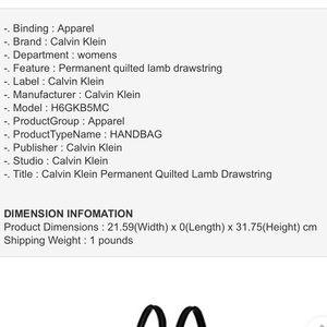 Calvin Klein Bags - Calvin Klein leather backpack 🌠